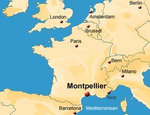 Carte De France Avec Montpellier | popkensburg